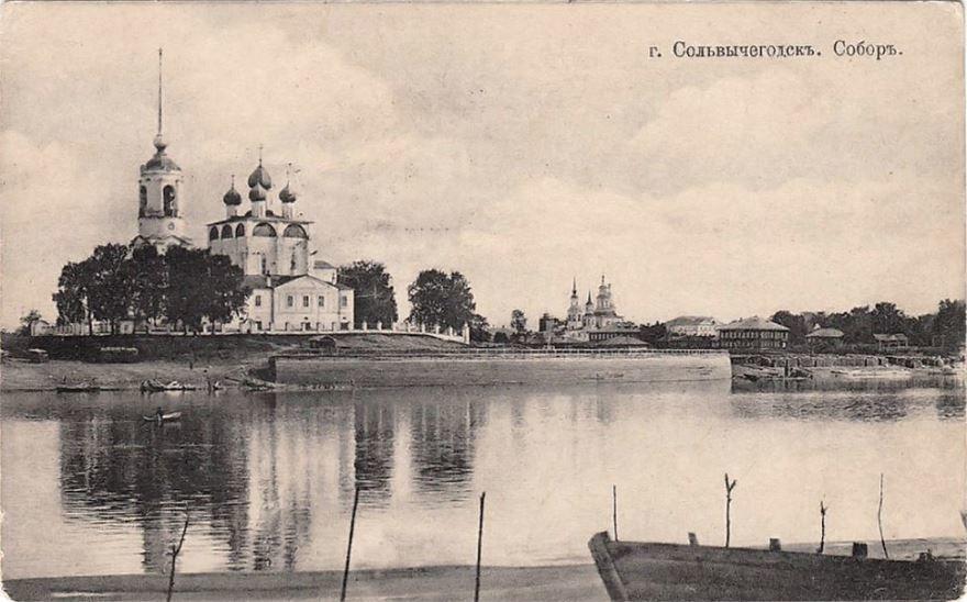 Смотреть лучшее старинное фото Благовещенский собор город Сольвычегодск