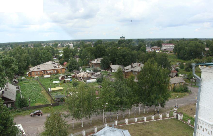 Смотреть красивое фото вид сверху город Сольвычегодск 2019 в хорошем качестве