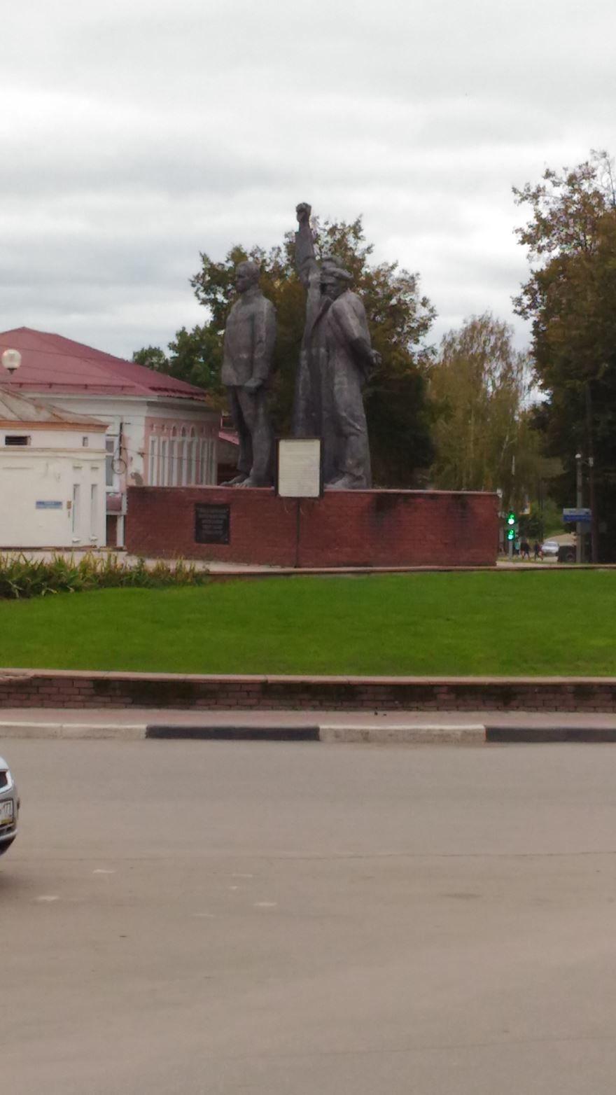 Площадь Октябрьской революции город Семенов