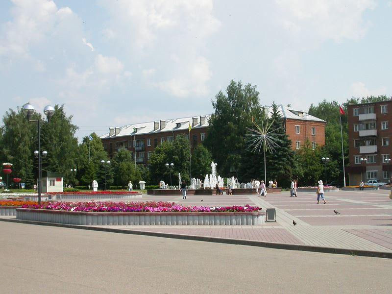 Смотреть красивое фото площадь города Солнечногорска в хорошем качестве