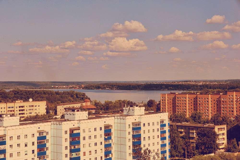 Скачать онлайн бесплатно лучшее фото вид сверху города Солнечногорска в хорошем качестве