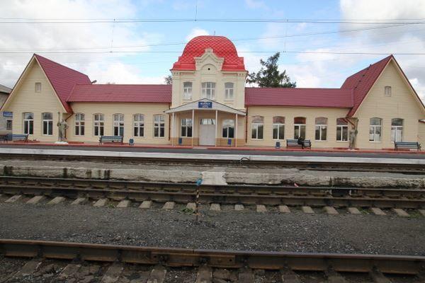 Железнодорожный вокзал город Серов 2018