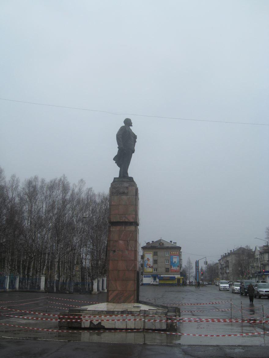Смотреть красивое фото Памятник В.И. Ленину город Советская Гавань