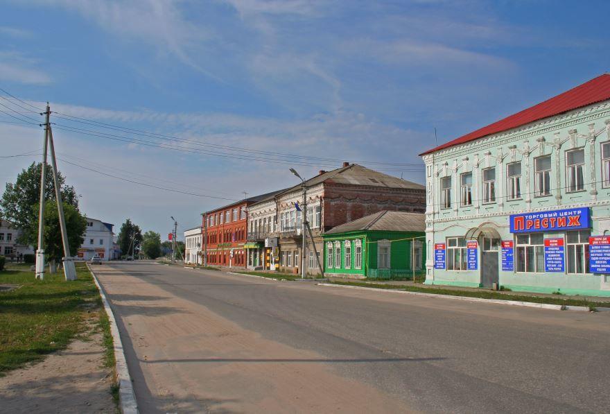 Скачать онлайн бесплатно лучшее фото улица города Спас Клепики в хорошем качестве
