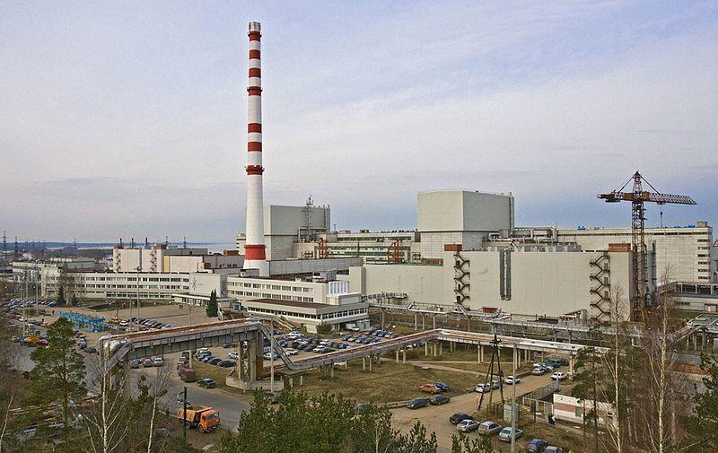 Ленинградская атомная станция в городе Сосновый бор