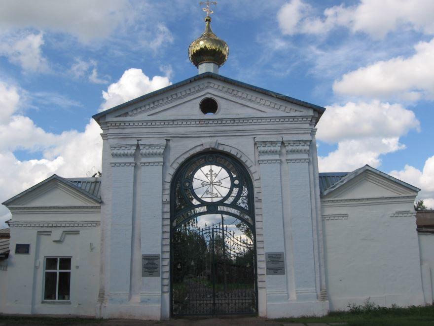 Ограда Крестовоздвиженского монастыря город Слободской