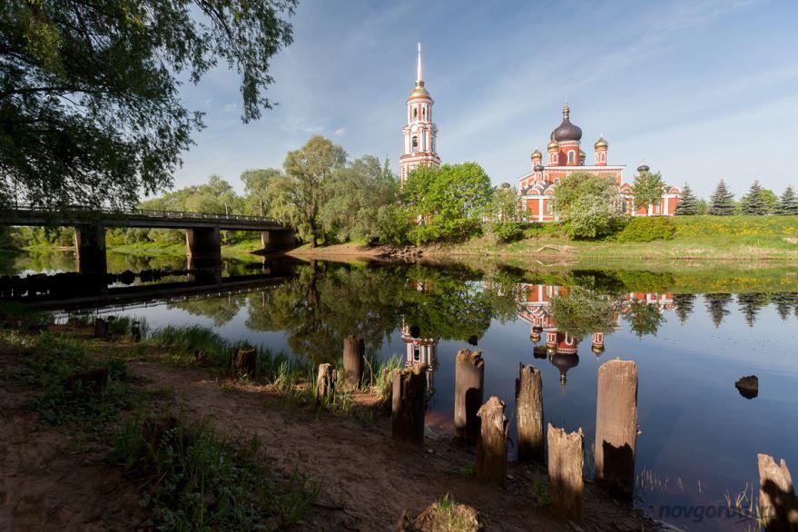 Скачать онлайн бесплатно лучшее фото красивый вид города Старая Русса в хорошем качестве