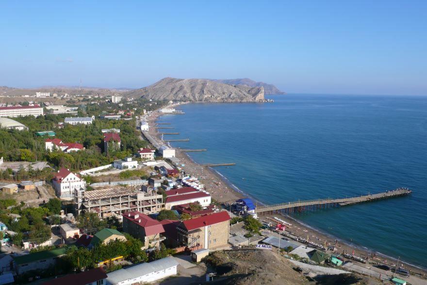 Скачать онлайн бесплатно лучшее фото панорама города Судак в хорошем качестве