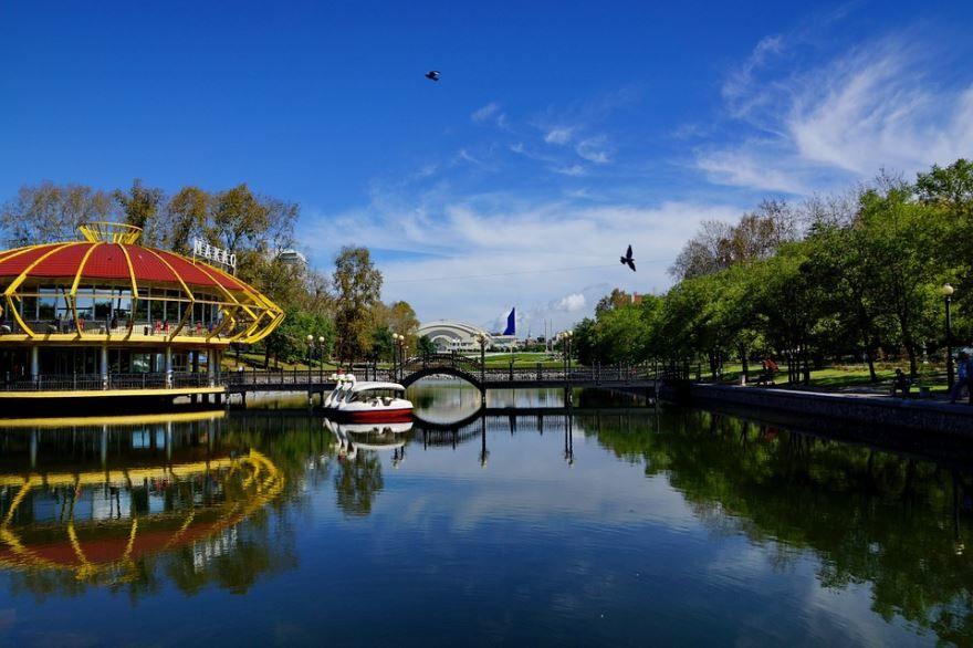 Смотреть красивое фото городского парка город Хабаровск