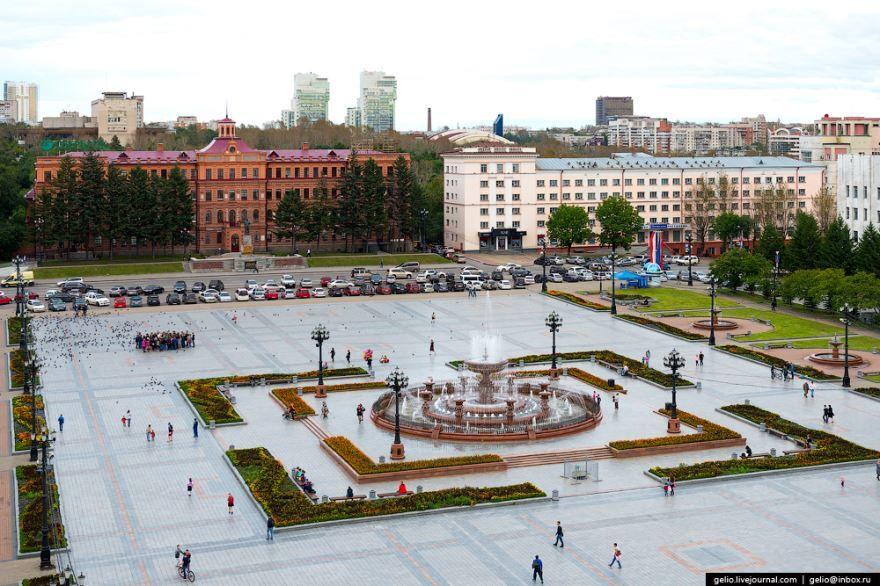 Смотреть красивое фото площадь Ленина город Хабаровск