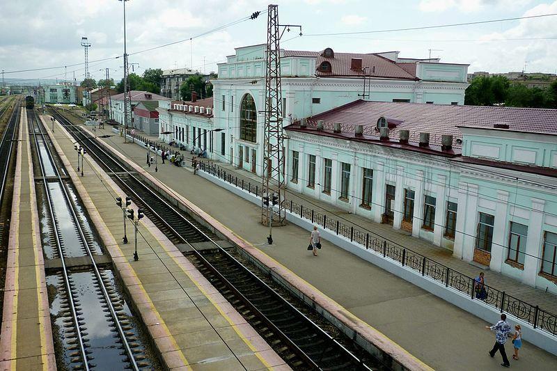 Железнодорожный вокзал город Уссурийск 2019