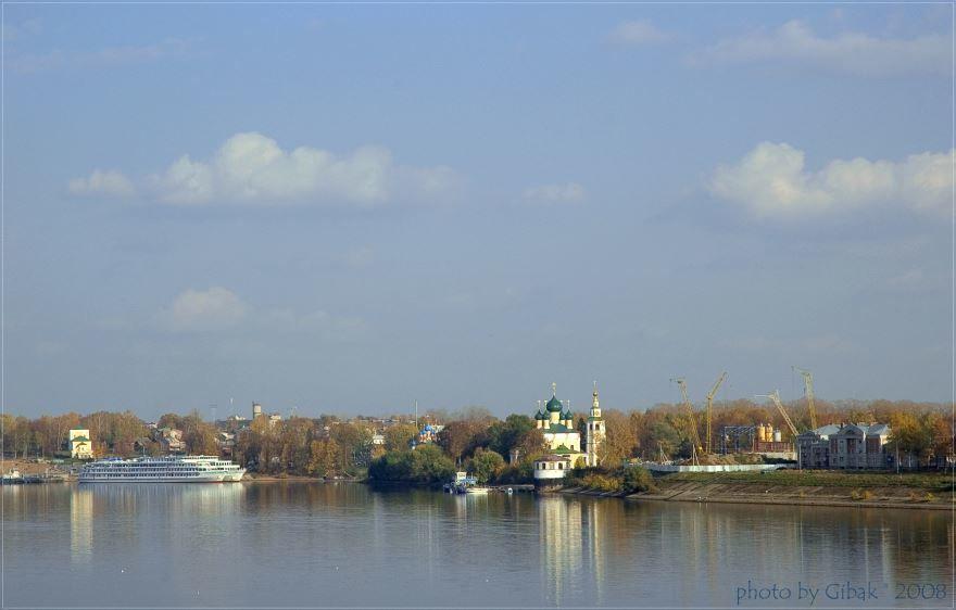 Скачать онлайн бесплатно лучшее фото панорама города Углич в хорошем качестве
