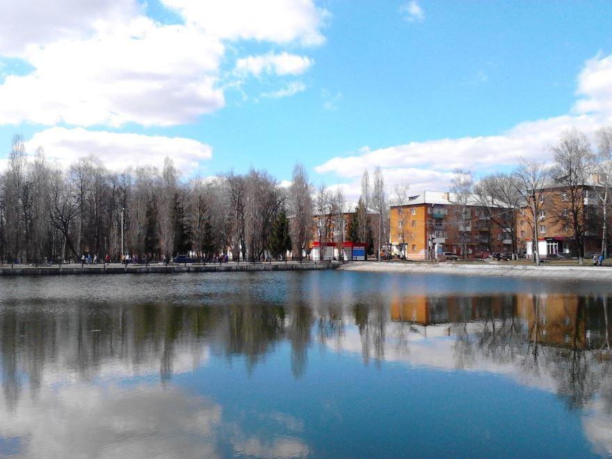 Смотреть красивое фото город Узловая со стороны реки