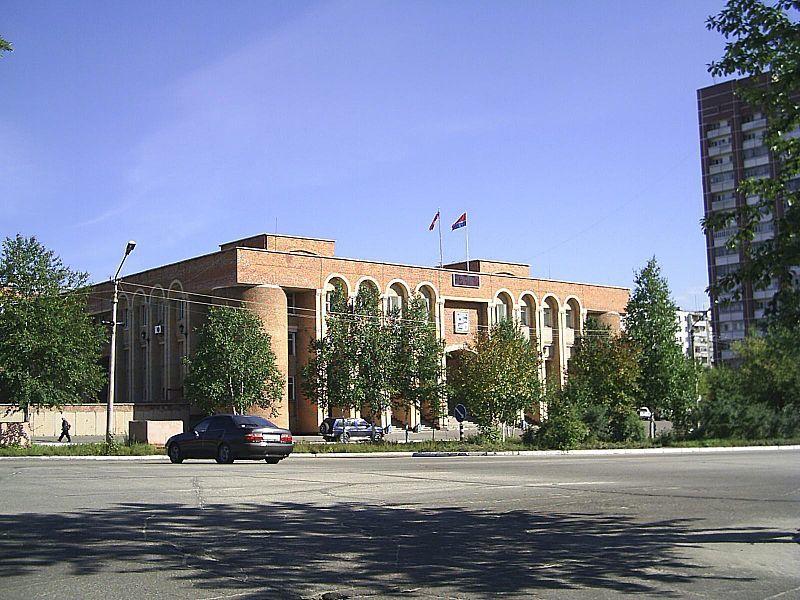 Здание районной администрации город Тында