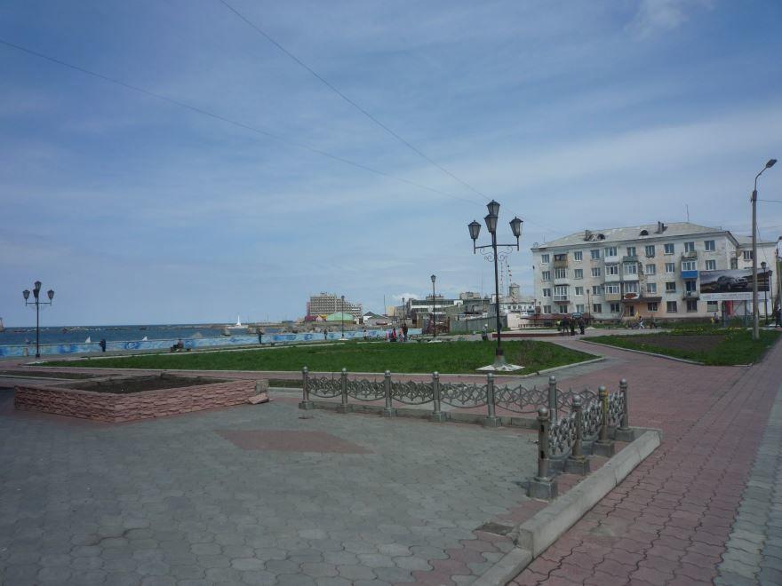 Площадь Мира город Холмск