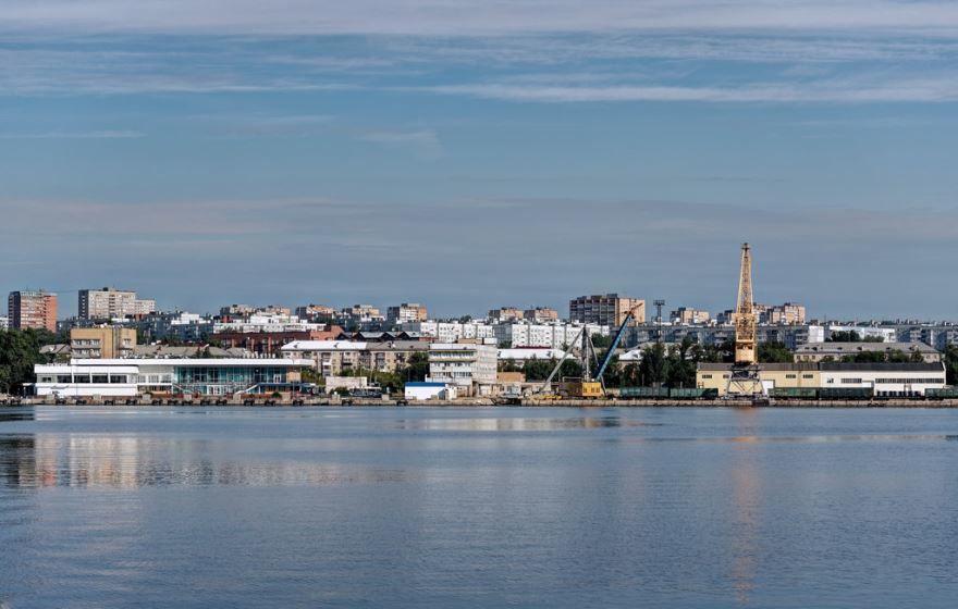Скачать онлайн бесплатно лучшее фото вид с реки города Тольятти в хорошем качестве