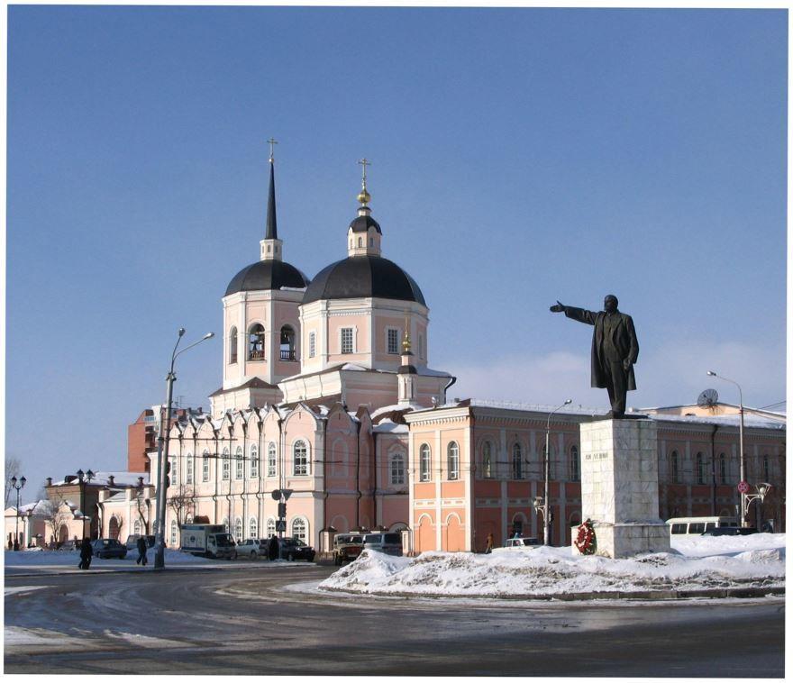 Памятник В.И. Ленину город Томск