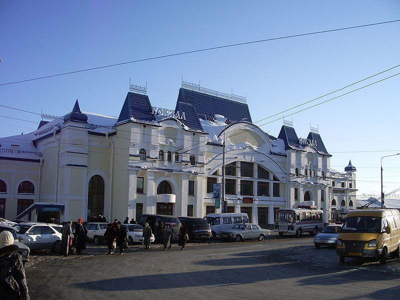 Железнодорожный вокзал город Томск 2019