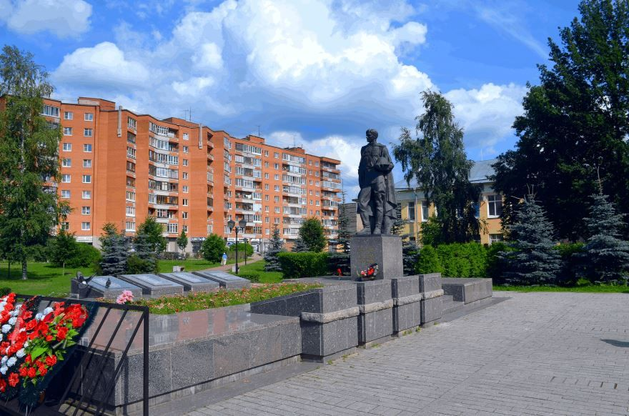 Братская могила советским воинам город Тосно