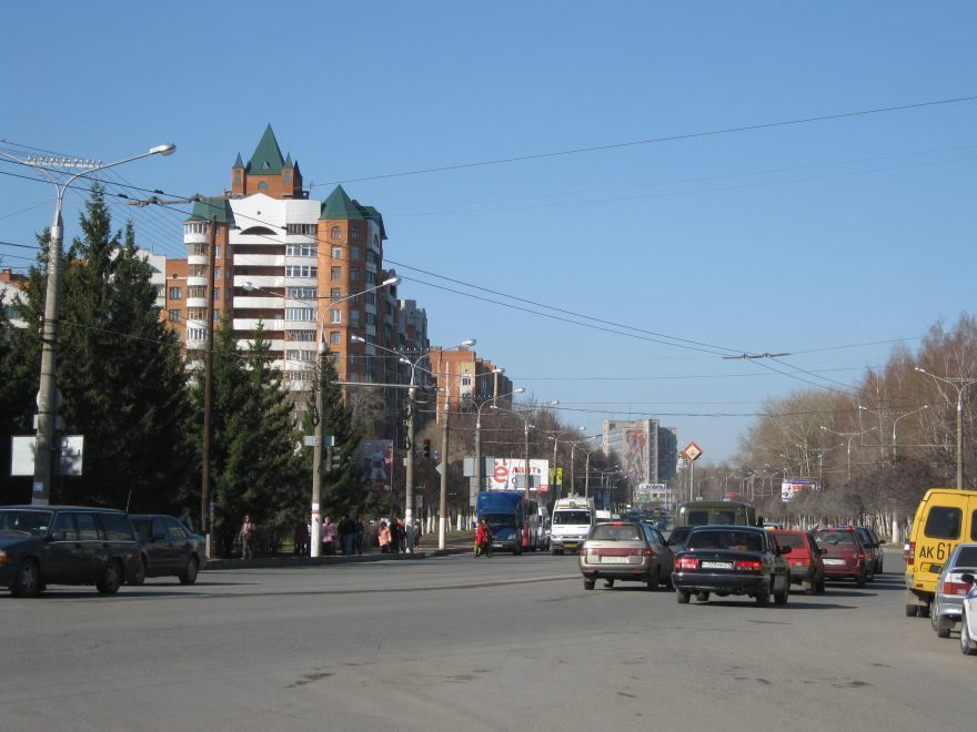 Смотреть красивое фото Московский проспект город Чебоксары 2019