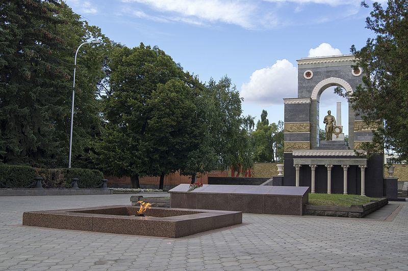 Памятник Советским воинам в парке Победы город Черкесск
