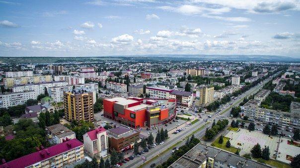 Скачать онлайн бесплатно лучшее фото вид сверху города Черкесск в хорошем качестве