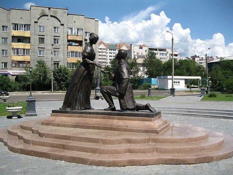 Памятник декабристам город Чита