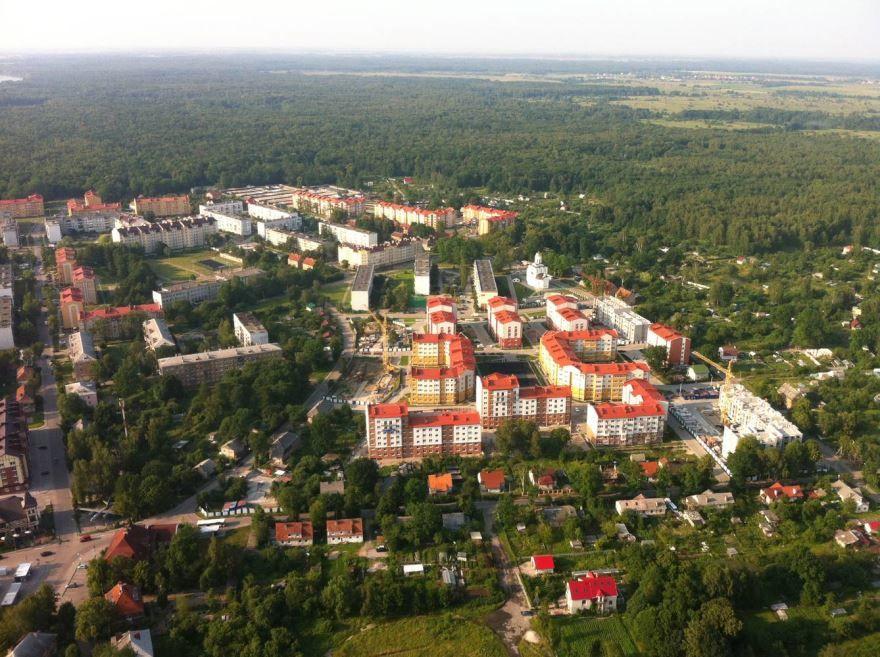 Скачать онлайн бесплатно лучшее фото вид сверху города Чкаловска 2019 в хорошем качестве