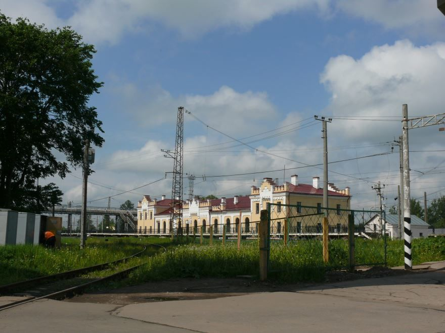 Железнодорожный вокзал город Чудово 2019