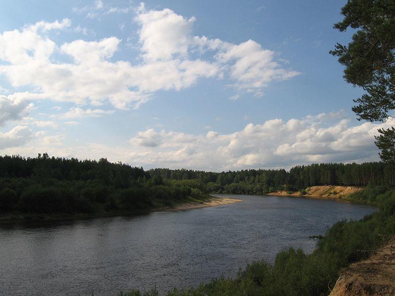 Смотреть красивое фото река Ветлуга близ города Шарья
