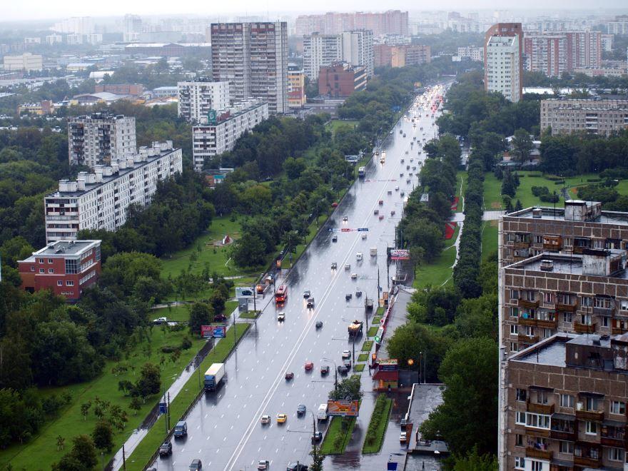 Скачать онлайн бесплатно лучшее фото вид сверху город Щелково в хорошем качестве