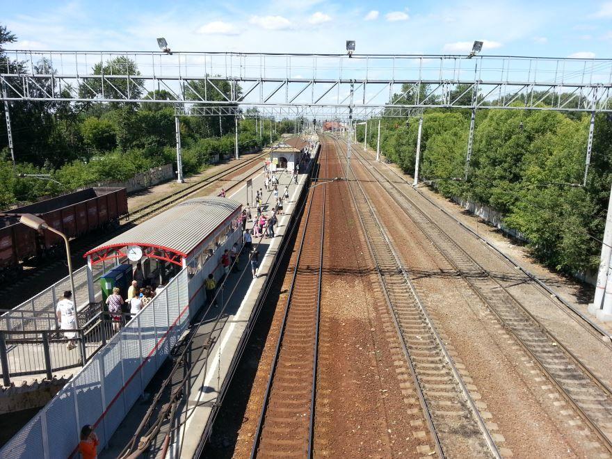 Железнодорожный вокзал города Электроугли