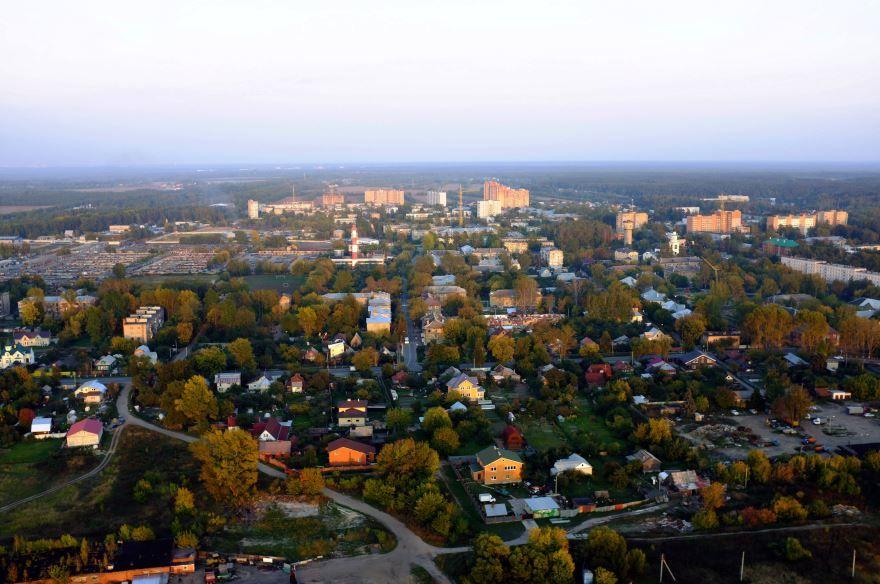 Скачать онлайн бесплатно лучшее фото вид сверху города Электроугли в хорошем качестве