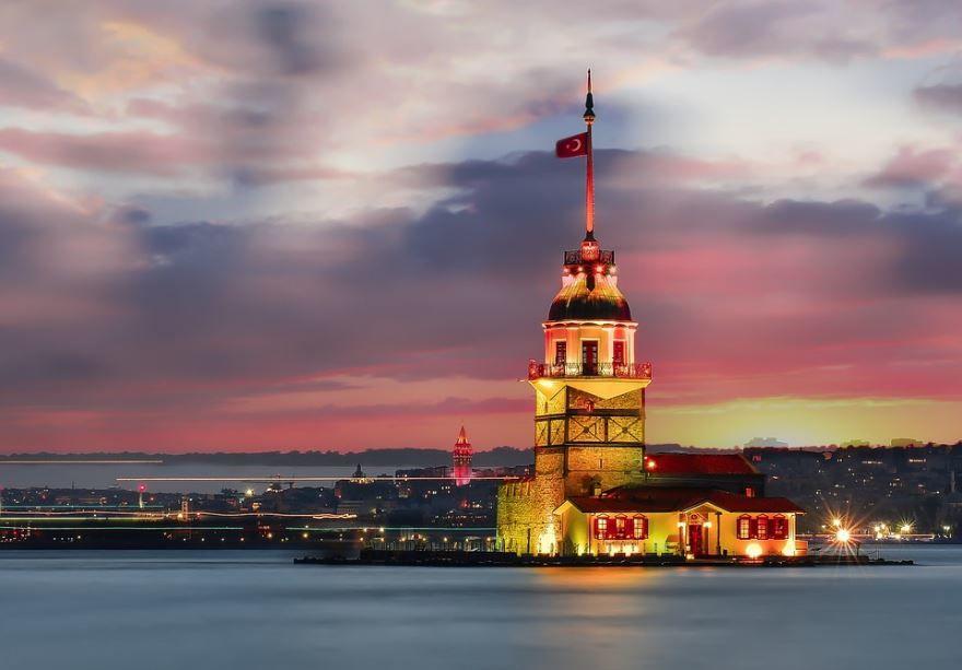 Смотреть красивое фото Босфор город Стамбул Турция