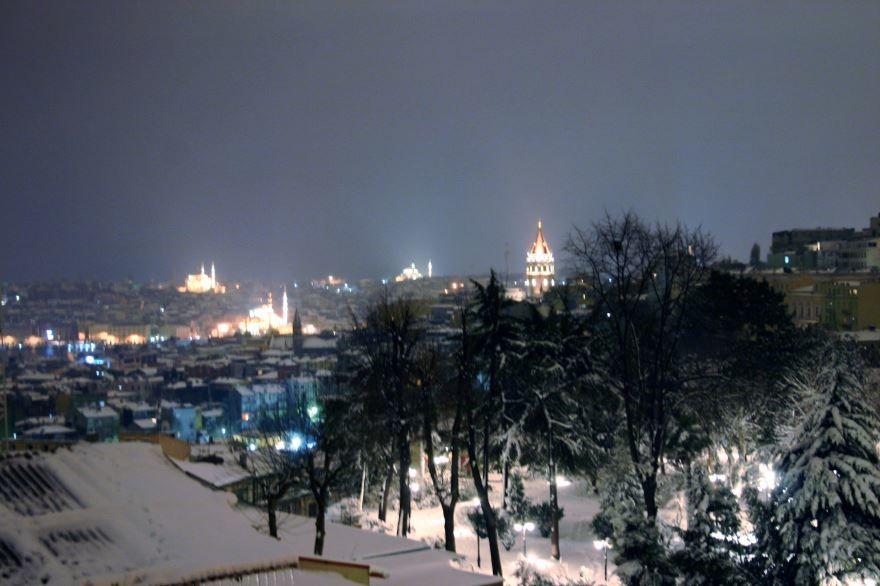 Смотреть красивое фото ночной город Стамбул в хорошем качестве