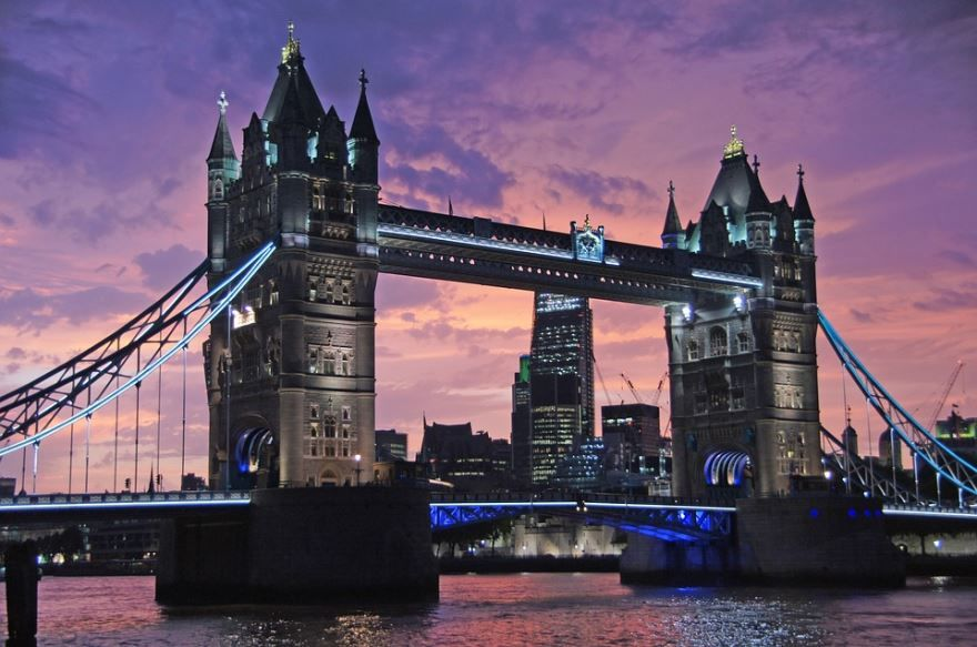 Тауэрский мост город Лондон