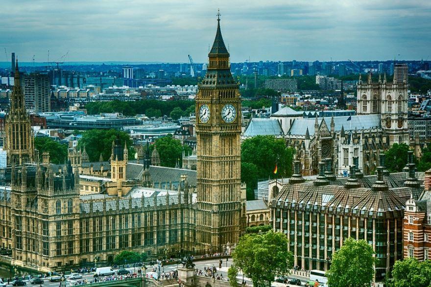 Смотреть красивое фото вид на город Лондон в хорошем качестве