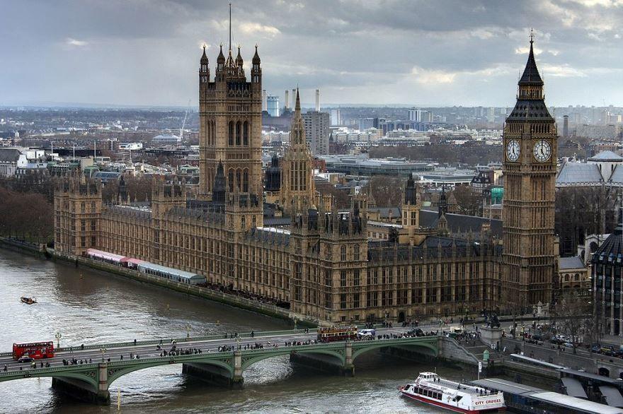 Скачать онлайн бесплатно лучшее фото вид сверху города Лондон в хорошем качестве
