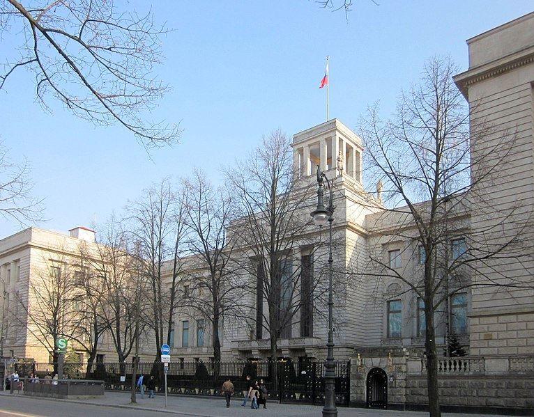 Здание посольства Российской Федерации город Берлин