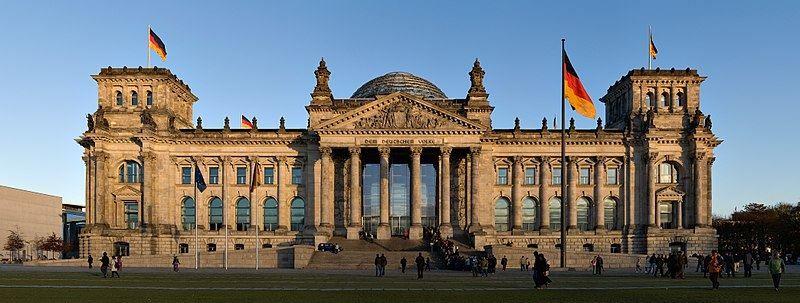 Здание Рейхстага город Берлин