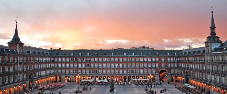Смотреть красивое фото площадь в Мадриде