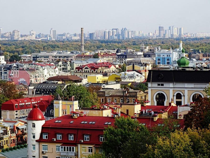 Смотреть лучшее фото вид сверху город Киев 2019