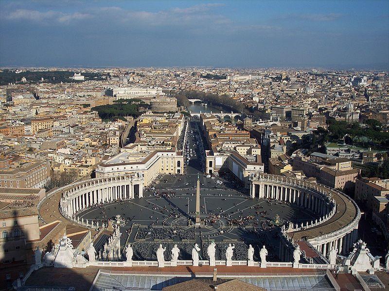 Вид на Рим с вершины купола Ватикана