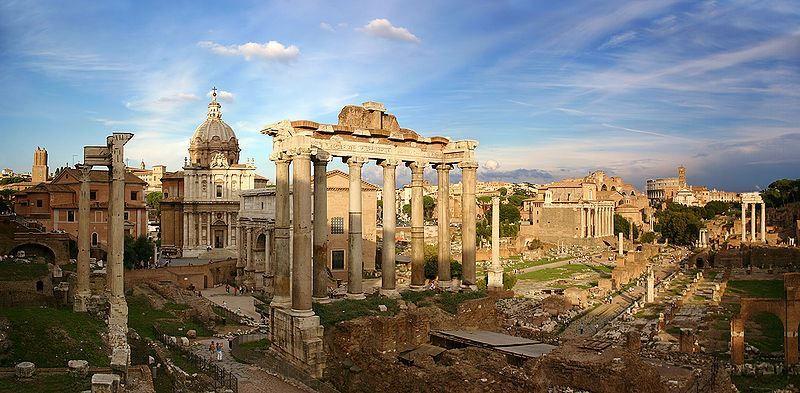 Скачать онлайн бесплатно лучшее фото красивый вид города Рима в хорошем качестве