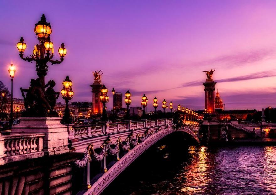 Скачать онлайн бесплатно лучшее ночное фото город Париж в хорошем качестве