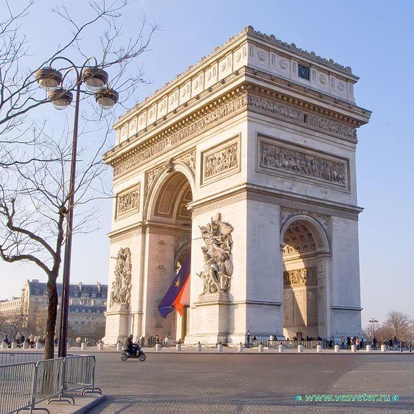 Триумфальная арка город Париж 2019