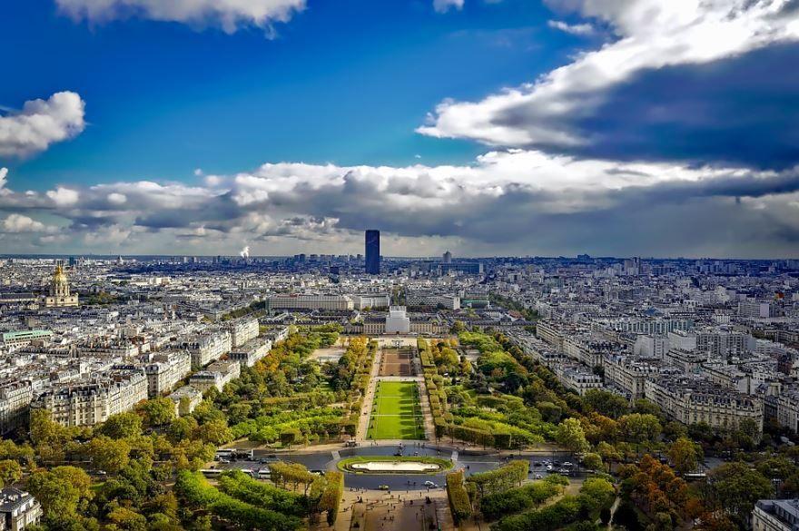 Скачать онлайн бесплатно лучшее фото вид на город Париж в хорошем качестве