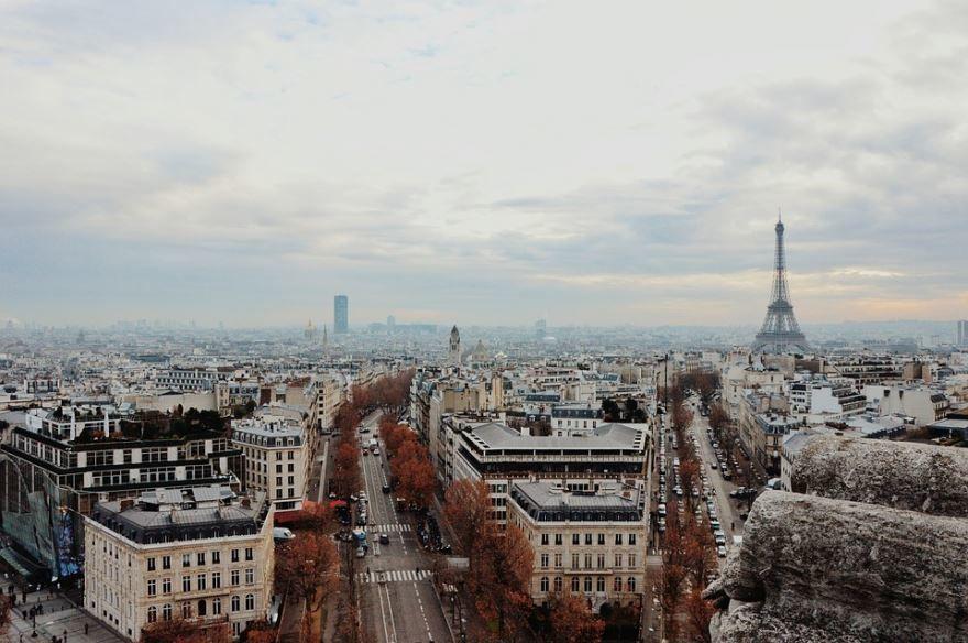 Смотреть красивое фото вид сверху на город Париж