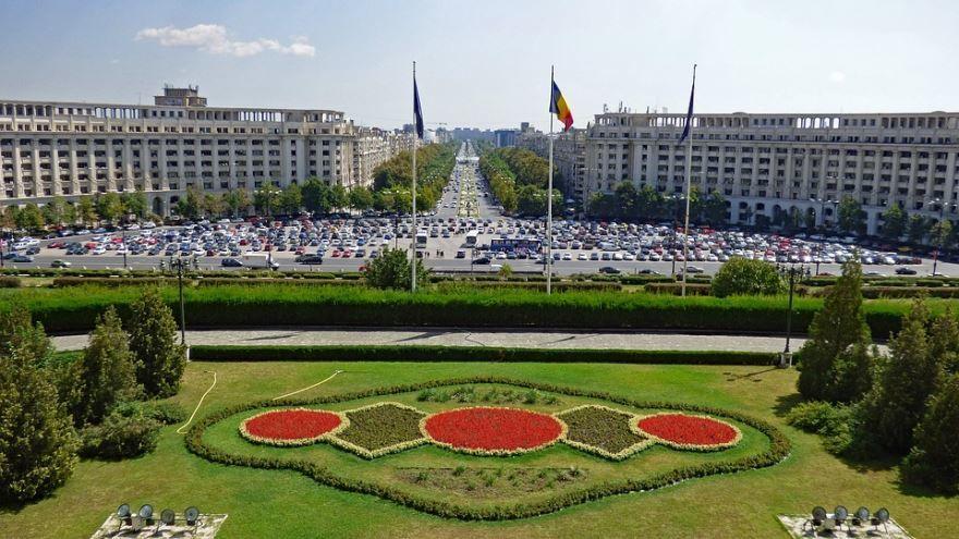 Смотреть красивое фото площадь города Бухарест Румыния