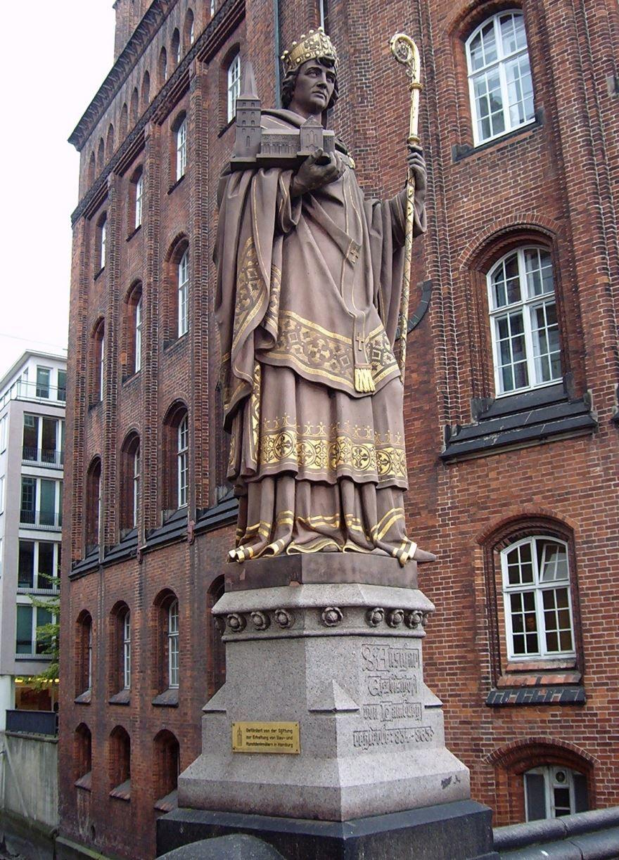 Святой Ансгар основатель города Гамбург